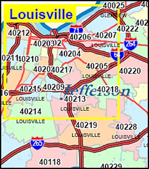zip code map kentucky map of louisville ky zip codes zip code map