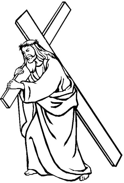 imagenes de jesus para colorear imprimir dibujos de jesus cargando su cruz para pintar im 225 genes