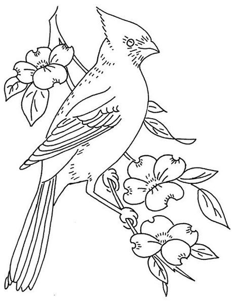 free pattern cardinal and dogwood painting pinterest