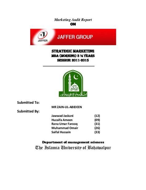 Marketing Audit Jaffar Group Email Marketing Audit Template