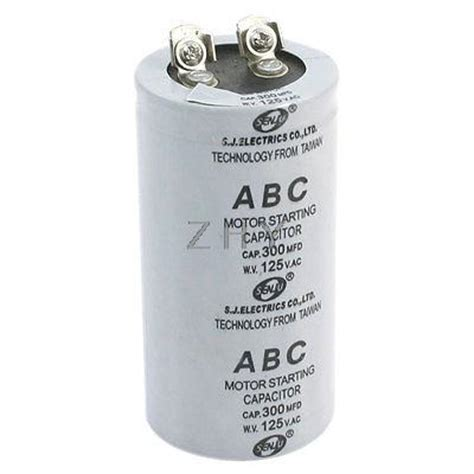 capacitor motor terminals ac 125v 300mfd 300uf 2 terminals motor start capacitor in capacitors from electronic