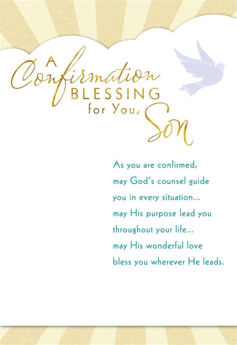 May Godsunsel Guide Younfirmation Card For Son