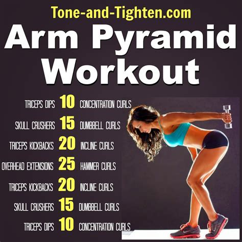 7 Great Exercises To Tone Your Arms by Weekly Workout Plan One Week Of Pyramid Workouts All