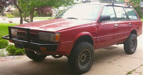 subaru loyale lifted my beloved 1992 subaru loyale 4 quot lift 27 quot tires 6 lug