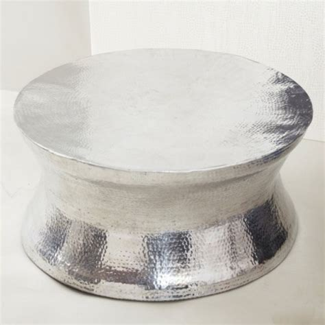 hammered silver thimble coffee table kitchen ideas