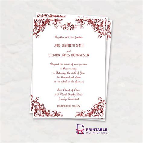 printable vintage invitation templates free pdf download vintage invitation with art deco