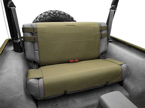 smittybilt gear seat covers tj smittybilt wrangler g e a r rear seat cover olive drab