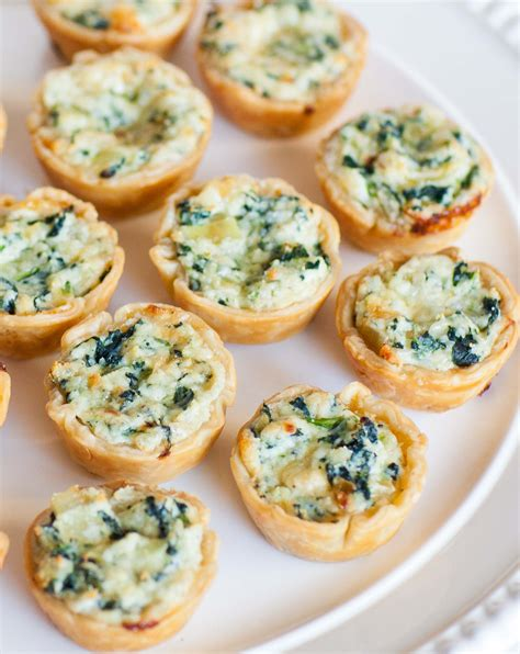 petit canape quiche and ricotta canapes tatyanas everyday food