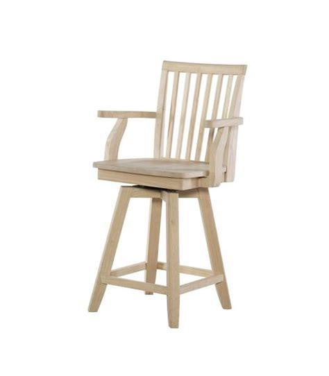Mission Bar Stools Unfinished by Mission Swivel Hardwood Arm Counterstool S 262swab Free