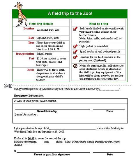 field trip permission letter permission letters livecareer
