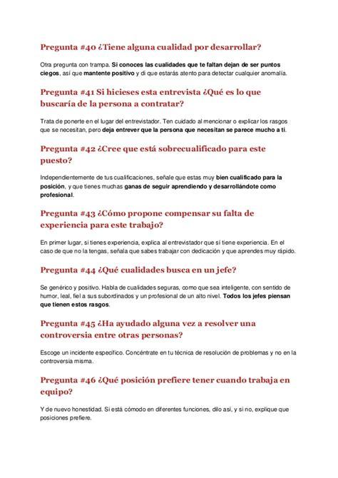 preguntas de entrevistas con respuestas 50 preguntas y respuestas en una entrevista de trabajo