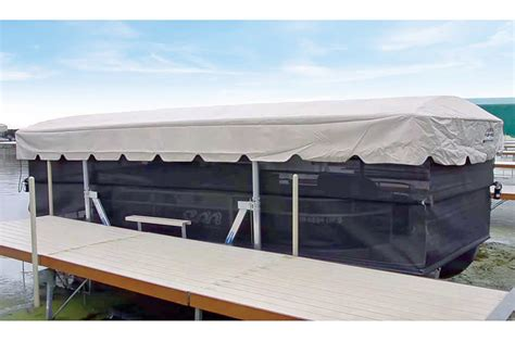 pontoon side curtains boat lifts canopies curtains