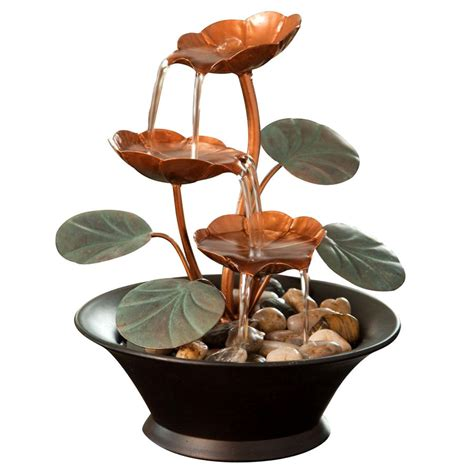 natural fountains waterfall small metal tabletop home