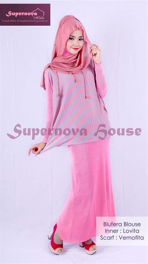 Etnik Pastel Cardi Cardi Rajut Cantik blufera blouse pink tosca baju muslim gamis modern