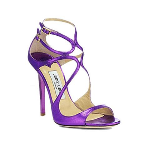 jimmy choo quot lance quot sandals in purple heels gladiators polyvore jimmy choo and