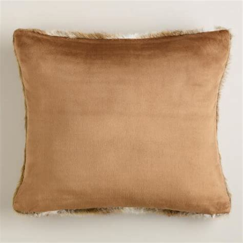 faux fur decorative pillows brown faux fur throw pillow world market