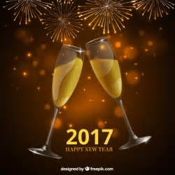 new year chagne toast background vector free download