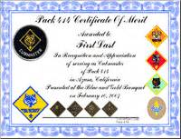 Cub Scout Certificate Templates by Cub Scout Resources From Pack 414