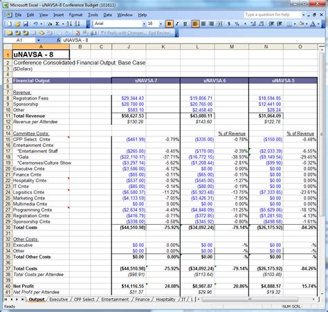 Finance Committee Guide 171 Unavsa Knowledge Hotel Revenue Excel Template