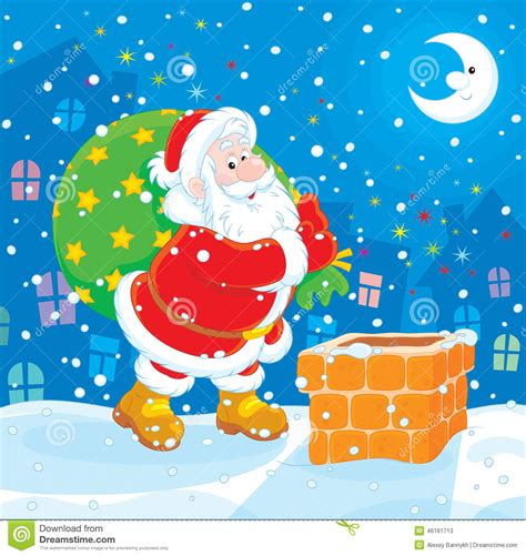 santa with his bag of gifts stock vector image 46161713