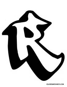 letter r in a special alphabet graffiti collection by