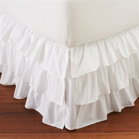 white ruffle bed skirt ruffle bed skirt bedskirts other metro by pbteen