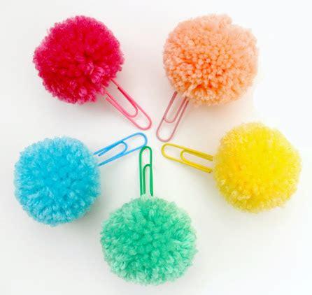 Handmade Pom Pom Decorations - 30 adorable diy pom pom decorations bookmarks and craft