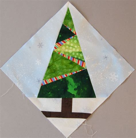 nice christmas block tree with lights quilt blocks