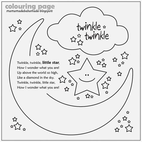 Twinkle Twinkle Coloring Page Mama Made Baba Made Twinkle Twinkle Little Star