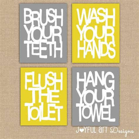 kids bathroom wall decor kids bathroom wall art bathroom rules printables brush wash flush hang prints