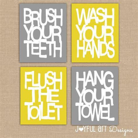 bathroom rules art kids bathroom wall art bathroom rules brush wash flush
