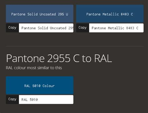 pantone color converter de 25 bedste id 233 er til pantone to ral p 229