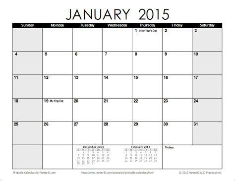 2015 monthly printable calendar one page free printable calendar printable monthly calendars