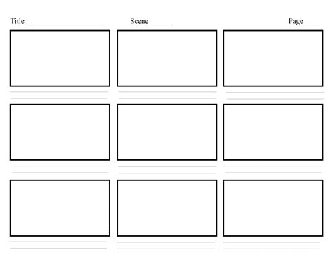 professional blank animation storyboard template word pdf