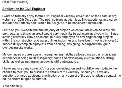 civil engineering cover letter civil engineer cover letter exle zach civil