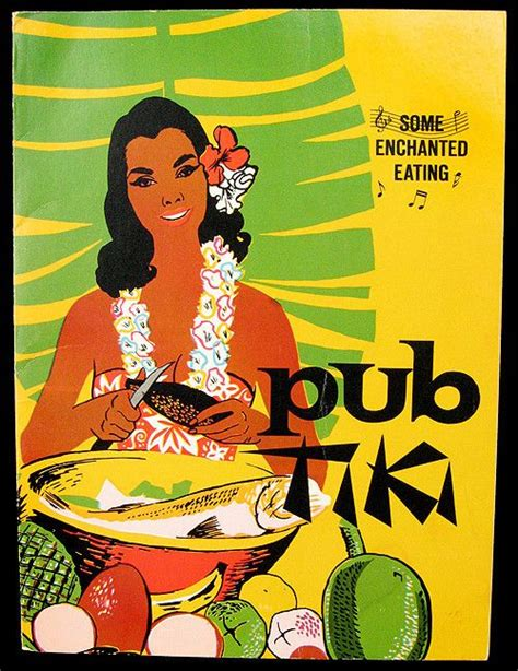 Tiki Hut Menu Vintage Posts And Cgi On
