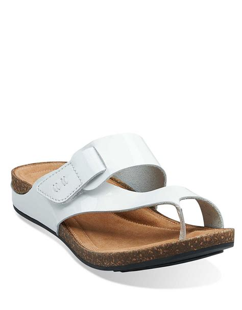 clarks white sandals clarks perri coast patent leather sandals in white