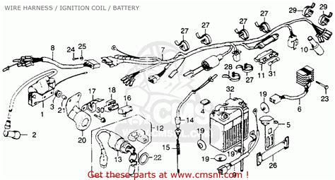 1977 honda xl 100 wiring diagram honda auto parts