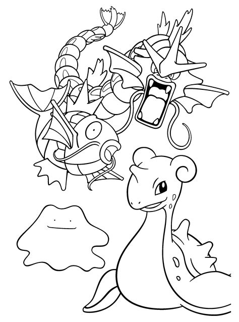 pokemon coloring pages magikarp pokemon paradijs kleurplaat gyarados magikarp ditto