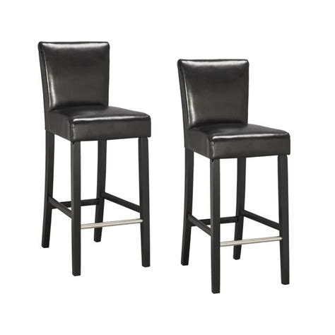 chaises de bar but elvis lot de 2 chaises de bar noires achat vente