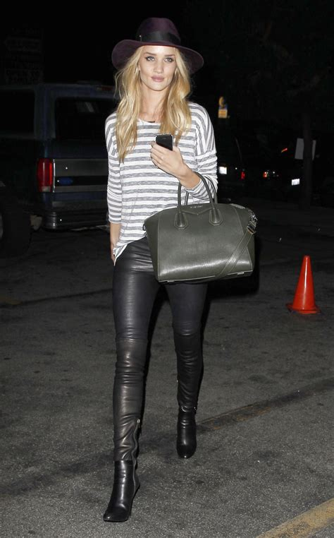 rosie huntington whiteley leather pants rosie huntington whiteley in leather pants out in new york