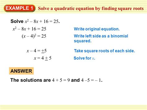 Solving Quadratic Equations By Finding Square Roots Worksheet by 4 5 Practice Quadratic Equations Tessshebaylo