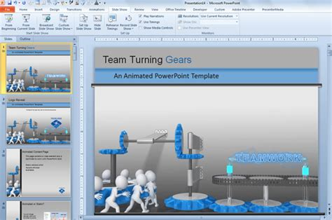 Animated Cogs In Powerpoint 2010 And 2013 Template Powerpoint 2013 Free