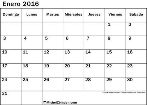 Calendã 2016 Para Imprimir Pdf Calendario Enero 2016 Para Imprimir Gratis Ventajoso