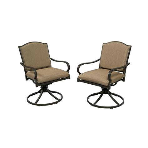 hton bay castle rock motion patio lounge chair with