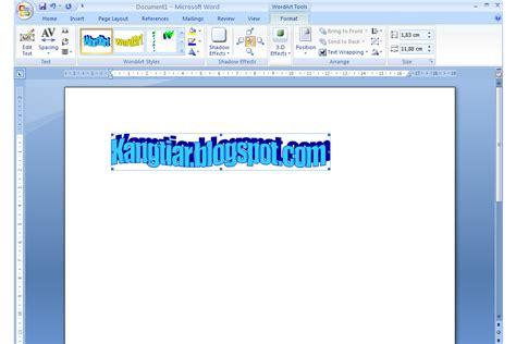 cara membuat organigram di microsoft word 2010 kang tiar cara membuat teks wordart di microsoft word 2007