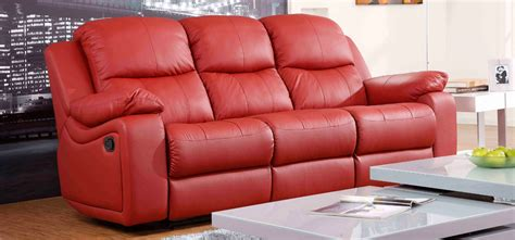 cheap couches montreal montreal rosso red reclining 3 3 seater leather sofa set