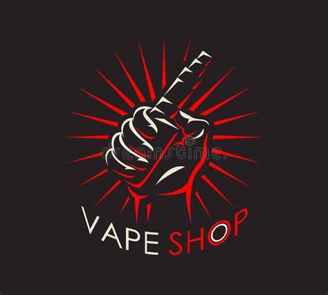 vape shop logotype stock vector illustration