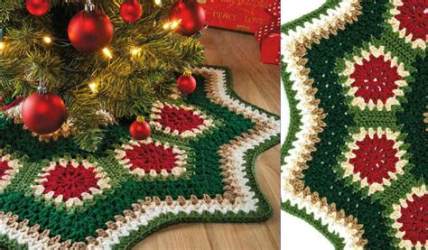 crochet christmas tree skirt patterns ripple tree skirt free pattern your crochet