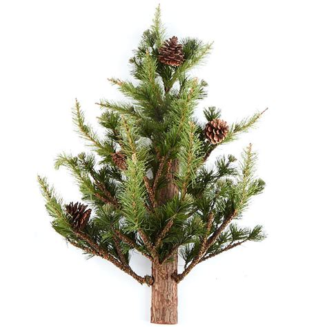 realistic wall mounted artificial pine tree christmas